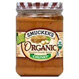 2 Jars Smucker's Organic Natural Peanut Butter-chunky (Natural Chunky)
