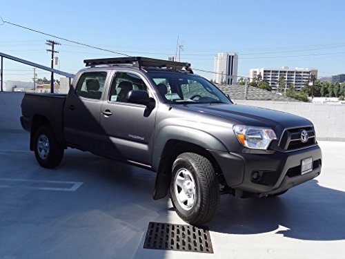 2007 Toyota Tundra Double Cab >> Toyota Tacoma Double Cab Roof Rack / Full Size Aluminum Off-Road Slimline II Cargo Carrier - by ...