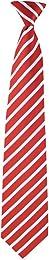 FlaskTie Men's Microfiber Adjustable Clasp On Novelty Necktie (Hidden 8 Ounce Bladder) Striped Crimson White
