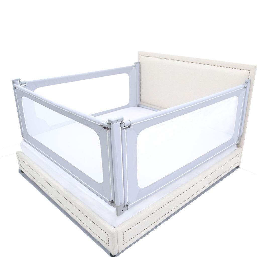 KOODJI Crib Fence, Anti-Fall Floor Type Universal Anti-Soft Bag, Baby Bed Guardrail Child Bed Bezel, Vertical Lifting, Automatic Locking - 3 Pieces (Size : 1.5x2.0m) by KOODJI