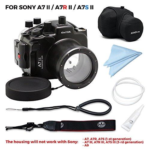 For Sony A7II A7R II A7S II [ILCE-7M2/7RM2/7SM2] 130FT/40M Underwater camera diving waterproof housing by KitDive