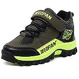 U-MAC Boys Mountaineering Sneakers Anti-slip Velcro Strap Athletic Hiking Shoes (Little Kid/Big Kid)