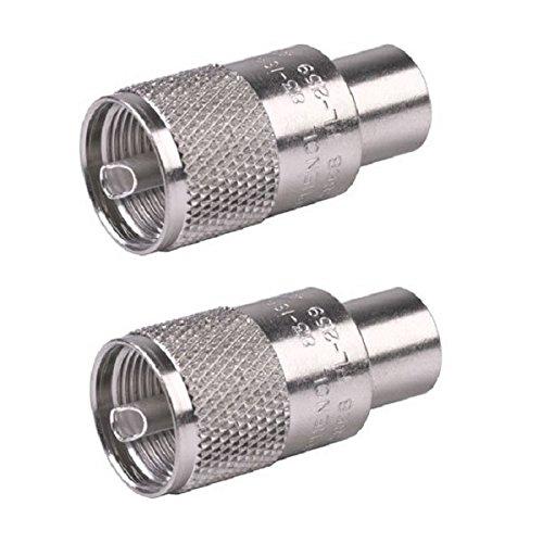LOT OF 2 AMPHENOL PL-259 / UHF (83-1SPB-15RFX) CB RADIO COAX CONNECTORS