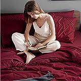 Bedsure Dark Red Full Size Comforter Sets - Bed in