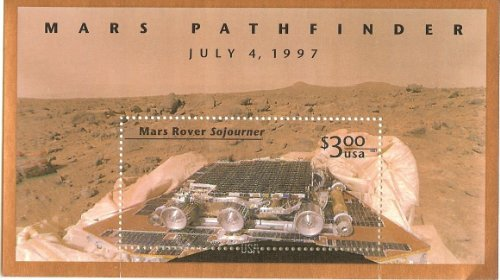 US Stamp - 1997 Mars Pathfinder Stamp Souvenir Sheet - #3178 (Mint Space Stamps)