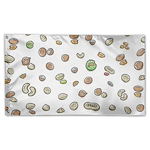 YUANSHAN Home Garden Flag Peanut And Nuts Pattern Polyester
