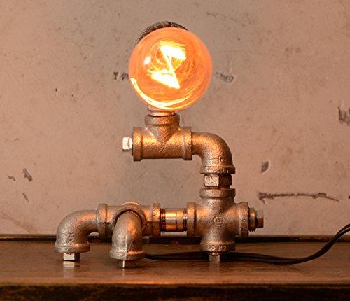 Cheap  Loft Living Designer Steampunk Water Piping Desk Top Table Lamp Modern Antique..