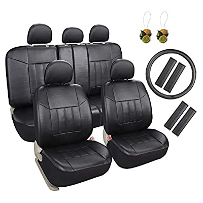 Leader Accessories Faux Leather Car Seat Covers Full Set for Truck SUV