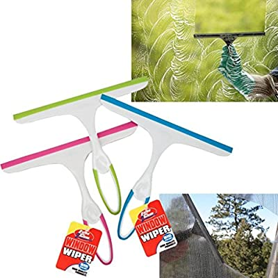 Brights Squeegee Wiper with Rubber Hand Grip for Cleaning Windows /& Glass