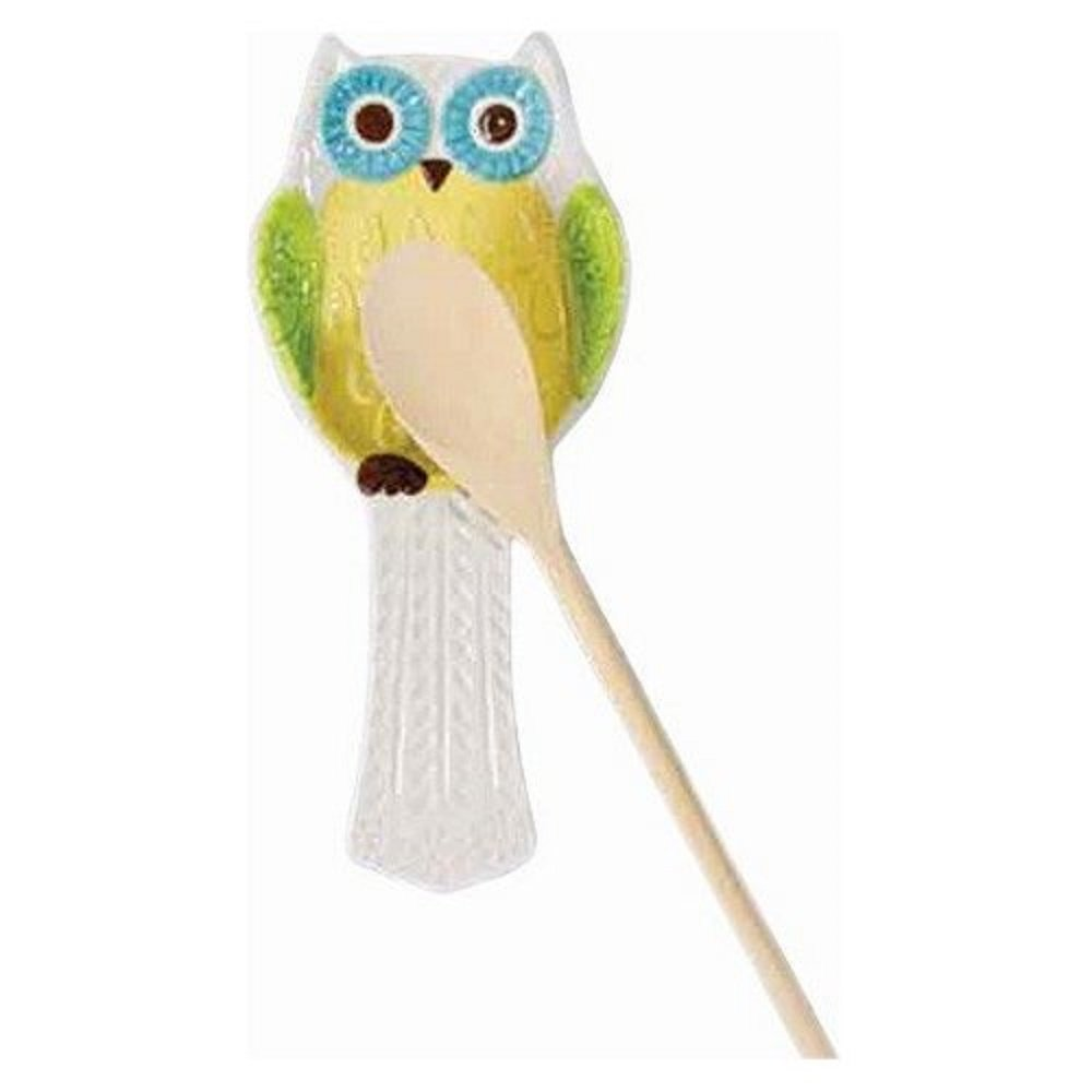 Boston Warehouse Spoon Rest with Floral Owl Design 22383