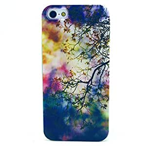 Colorful Shine TreeBranch Clear TPU Silicone Gel Back Cover Skin Soft Case for iPhone 5S 5