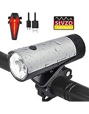 LENDOO LED Fahrradlicht Set, StVZO Zugelassen USB Wiederaufladbare Fahrradbeleuchtung fahrradlichter Set, 50 LUX 2600 mAh Samsung L-Ionen-Akku IPX4 Wasserdicht Ideal für Mountainbikes,Straßenrädern