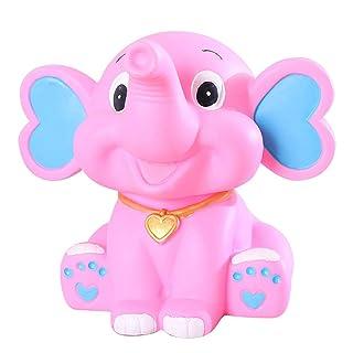 Vosarea Salvadanaio Bambini Elefante Regalo Bambini Compleanno (Rosa)