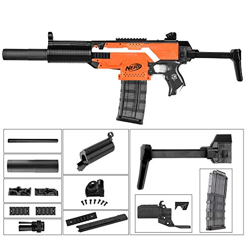 JGCWORKER MP5 Upgrade Mod Kits Set for Nerf N-Strike Elite Stryfe Blaster  (W007)