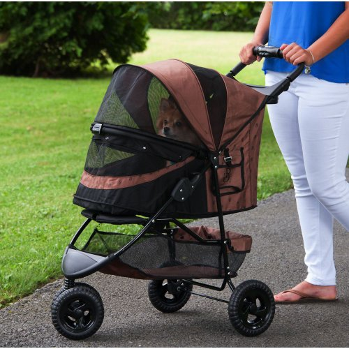 Pet-Gear-No-Zip-Special-Edition-Pet-Stroller-Zipperless-Entry-Chocolate