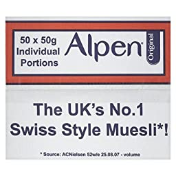 Alpen 50X50G Individual Portions