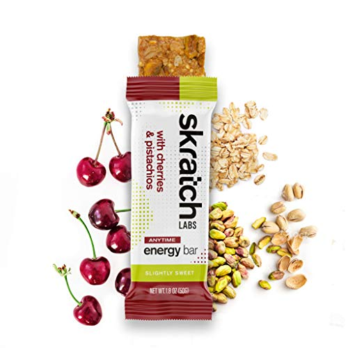 - SKRATCH LABS Anytime Energy Bar, Cherries and Pistachios, (12 pack single serving) Natural, Low Sugar, Gluten Free, Vegan, Kosher, Dairy Free