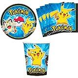 Pokemon Pikachu & Friends Birthday Party Supplies Set Plates Napkins Cups Kit for 16