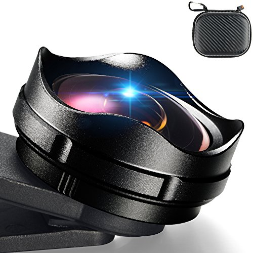 YOUMILE Cell Phone Camera Lens 2 in 1 Clip-on Lens Kit 112° Super Wide Angle & 15X Macro Phone Camera Lens Professional HD for iPhone 8 7 6s 6 Plus Samsung Android Smart phone iPad (Black)