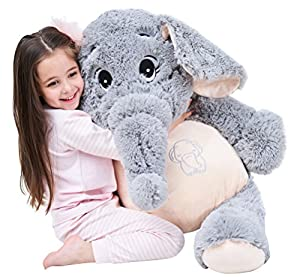 "IKASA 39"" Giant Elephant Stuffed Animal Plush Toys Gifts for Kids Girlfriend"