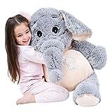 IKASA Giant Elephant Stuffed Animal Plush Toys Gifts Gray, 39 inches