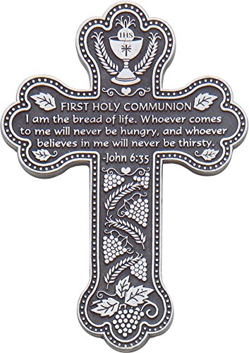 (Cathedral Art PMC112 First Holy Communion Message Cross with Space for Engraving on Back, 5-1/2-Inch)