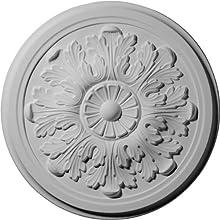 Ekena Millwork CM12LE 12 3/4-Inch OD x 7/8-Inch Legacy Acanthus Ceiling Medallion