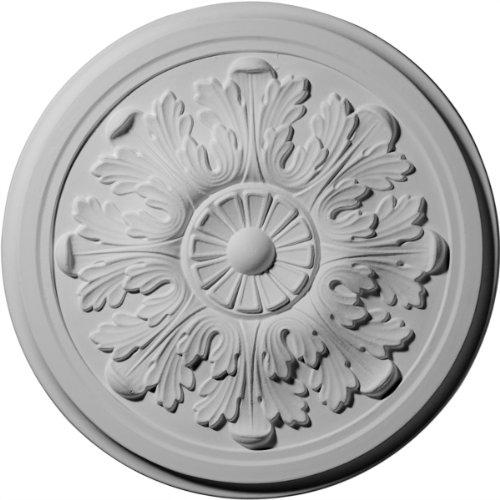 Ekena Millwork CM12LE Ceiling Medallion, Primed