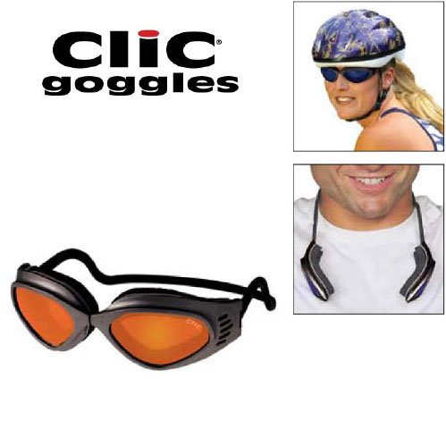 Ladies/kids Magnetic Ultimate Extreme Sport ''Clic Goggles'' Iridium Orange'' by CliC