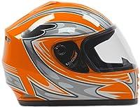 Youth Full Face Helmet Orange ( Small ) by Typhoon Helmets