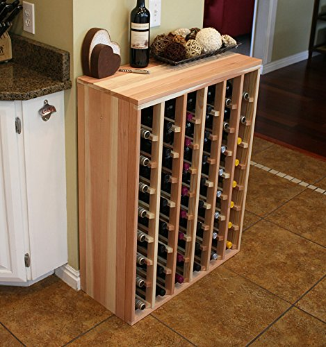 Creekside 48 Bottle Premium Table Wine Rack (Redwood) by Creekside - Exclusive 12 inch deep design with solid sides. Hand-sanded to perfection!, Redwood