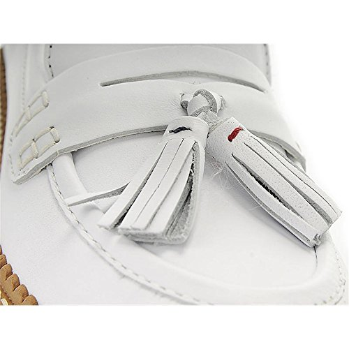 Tassel Leather Hilfiger Loafers White Tommy HqZPp4xww