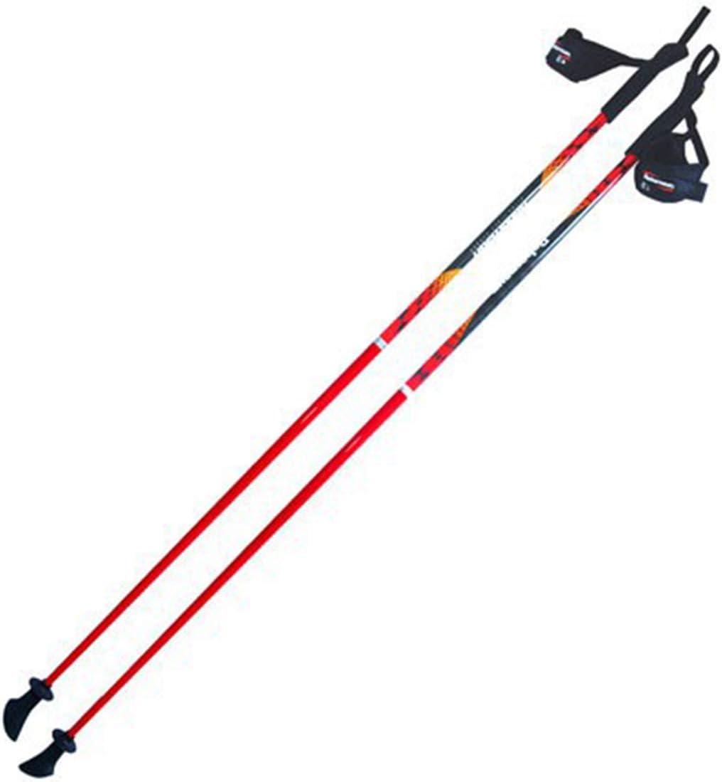LNLW トレッキングポールハイキングウォーキングスティックポールグラスファイバーアジャスタブルショックポータブル  110cm