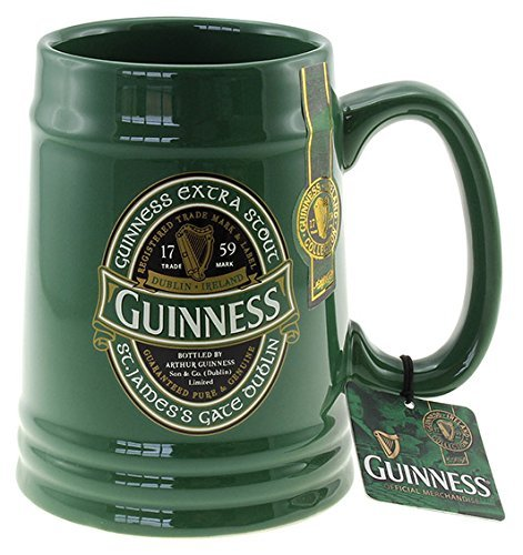 Guinness Green Collection Solid Green Tankard by Shamrock Gift Co