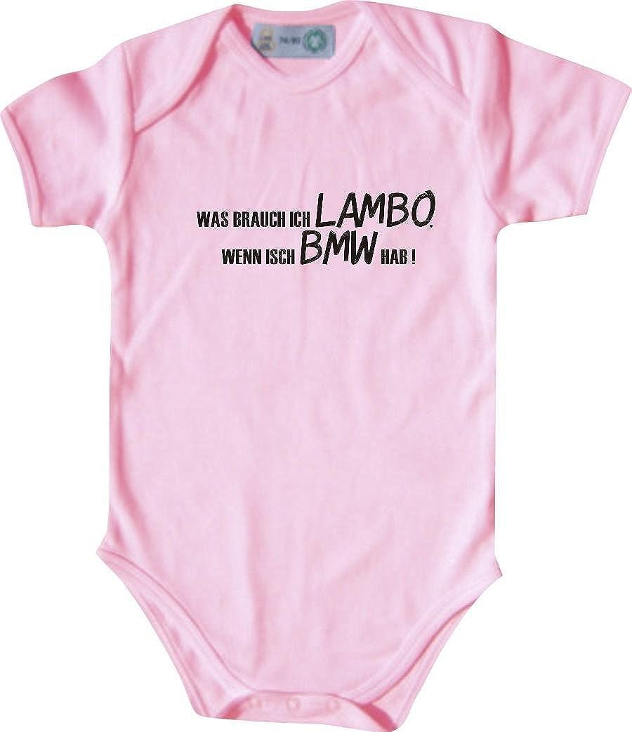 Wenn Isch BMW Hab Unbekannt Lustiger Baby Body mit Druck//was Brauch Ich Lambo // Viele Farben//Gr/ö/ßen von 50 bis 92