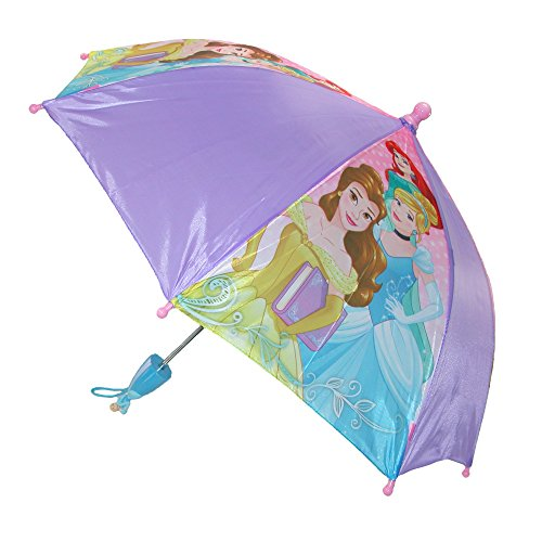 Price comparison product image Disney Kids' Princess Stick Umbrella with Character Handle, Purple