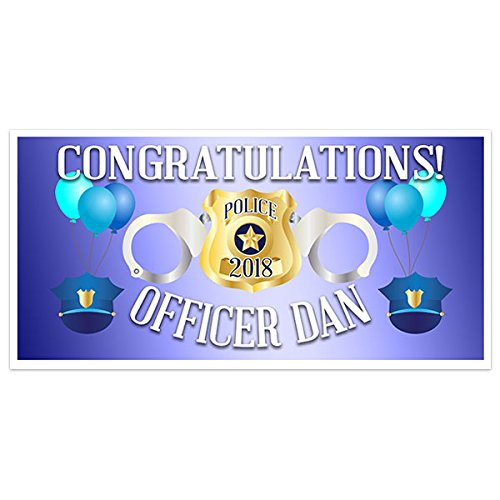Police Academy Graduation Banner Personalized Party Backdrop