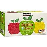 Kirkland Signature Organic Gluten-Free No Sugar Added Applesauce: 24 Count (3.17 oz.)