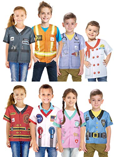 Narwhal Novelties Unisex 1st Career, Pretend and Play Costume Collection (8-Pack)