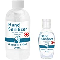 Makkalensau 2 Pack 50ML+260ML Hand Sanitizer Gel Travel size disposable hand wash soap Kill 99.99% Of Germs Safe for Pregnant Women and Kids