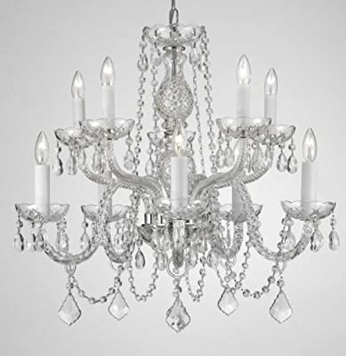 "Chandelier Lighting Crystal Chandeliers H25"" X W24"" 10 LIGHTS!"