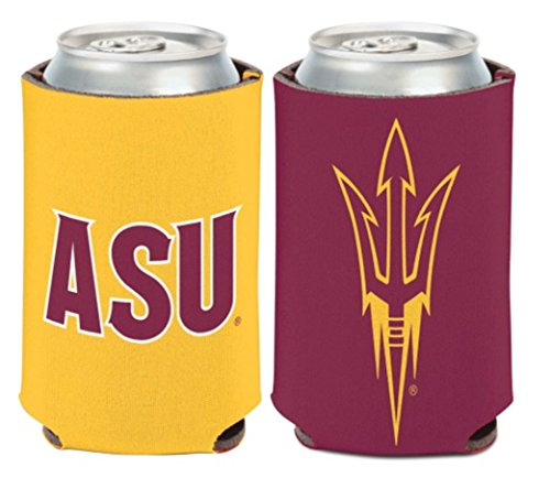WinCraft NCAA Arizona State University ASU Sun Devils 1 Pack 12 oz. 2-Sided Can Cooler