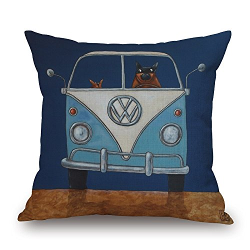 Bestseason 20 X 20 Inches / 50 By 50 Cm Dog Throw Cushion Covers 2 Sides Is Fit For Car Teens Boys Christmas Club Family Christmas (Summer Futon)