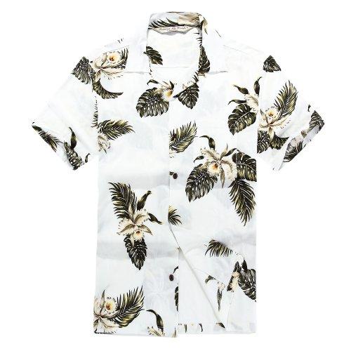 Leaves Mens Aloha Shirt - 7
