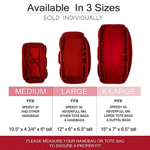 Pursi Handbag Purse Organizer Insert - Felt Fabric Multi Compartment Design by Pursi (Image #1)