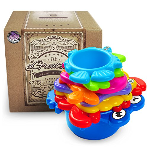 aGreatLife My First Stacking Cups: Best Educational Bath - Disney Baby Balls