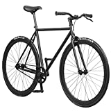 Pure Fix Original Fixed Gear Single Speed Bicycle, Juliet Matte Black, 54cm/Medium