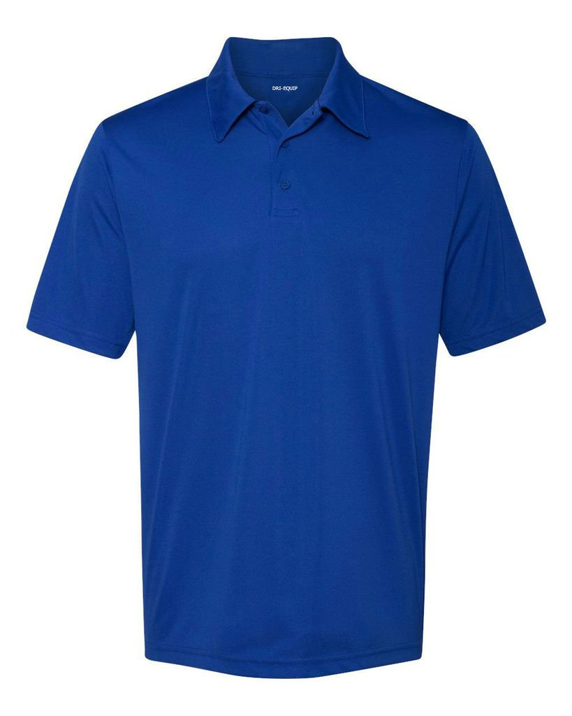 Joe's USA DRI-Equip Dry-Wicking Performance 3-Button Golf Polos, Royal-X-Large