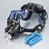 Lights Headlamps LED 1200 Lumens 3 Mode Cree XM-L T6 18650 Waterproof RechargeableCamping/Hiking/Caving Everyday Use Cycling/Bike Hunting