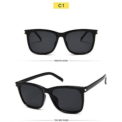 Amazon.com : YLNJYJ Gafas De Sol Cuadradas para Hombres ...